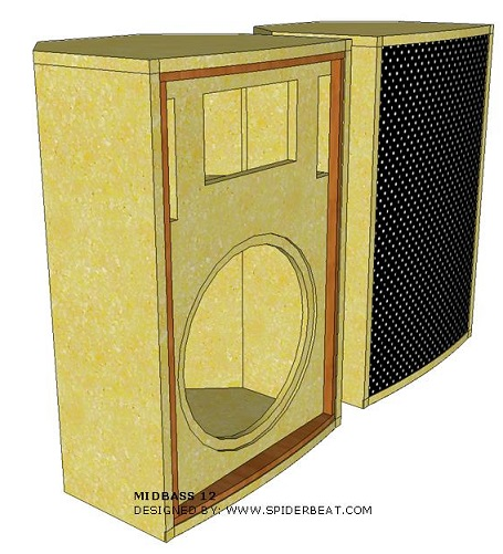 cara membuat box speaker midbass 12