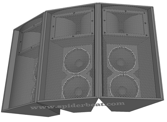skema box speaker mid-hi double 12 inch plus tweeter