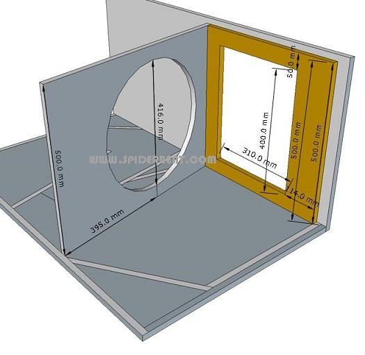 skema box sub horn 18 - access panel