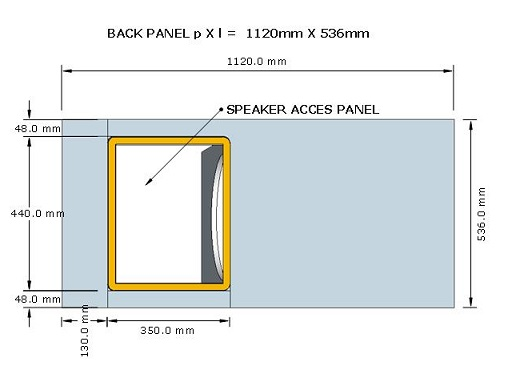 skema box sub horn 18 access panel top