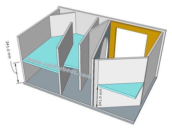 skema box sub horn 18 merakit panel