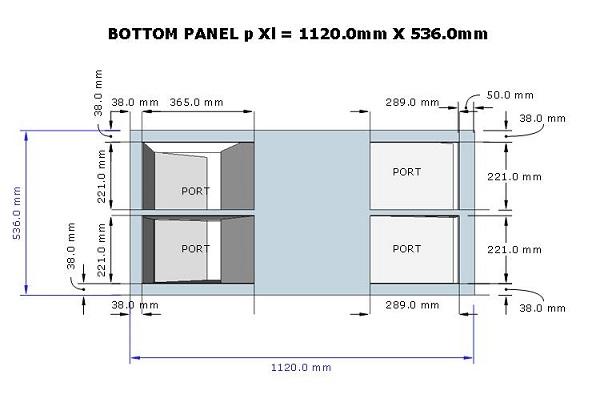 skema box sub horn 18 port bawah