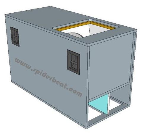 desain ukuran box sub horn 18