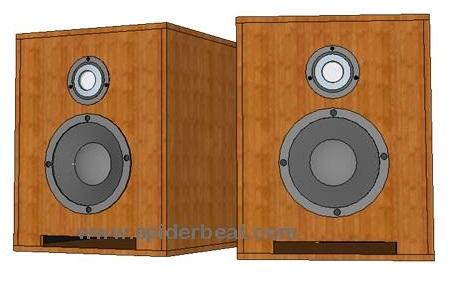 Desain box speaker 6 inch dalam 3D