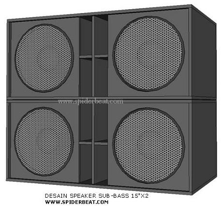 desain box speaker sub 15x2