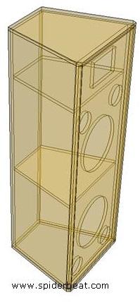 ukuran box speaker 2 way 2x12 inch