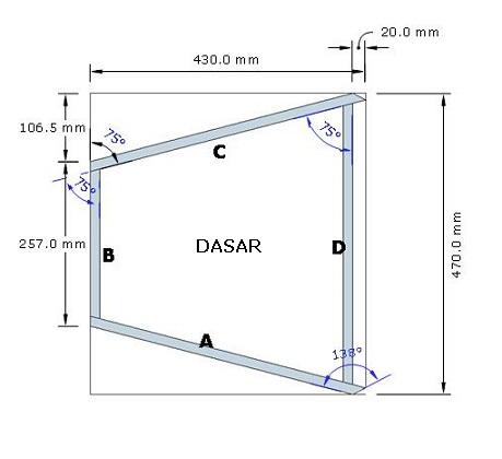 desain box speaker 2-way 2x12