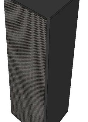 desain dan ukuran box speaker 2-way indoor otudoor