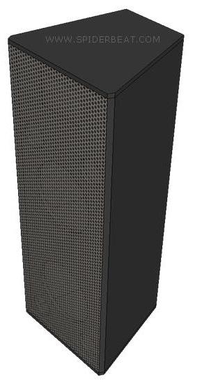desain dan ukuran box speaker 2-way indoor otudoor
