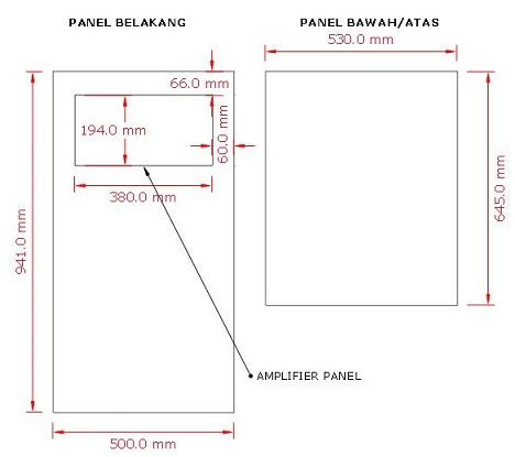 desain box speaker aktif 3 way