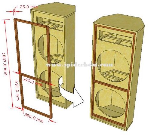 Ukuran baten box speaker 15x2 plus 1tweeter