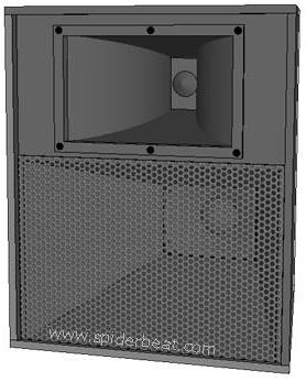 Skema dan ukuran box speaker mid-hi loaded horn 12