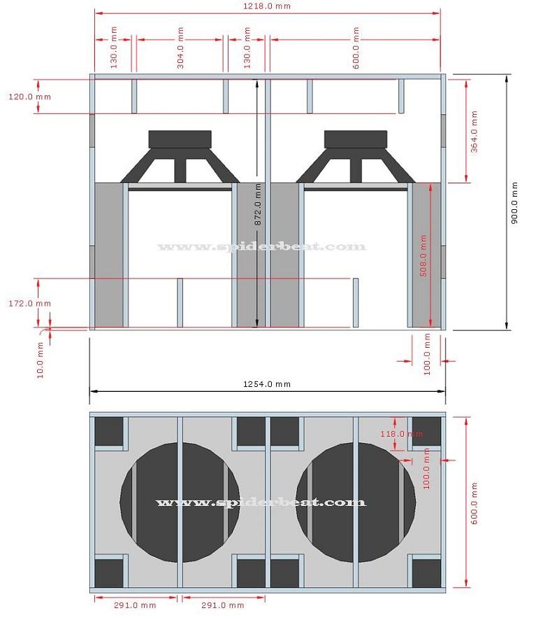 ukuran box speaker planar 18 double
