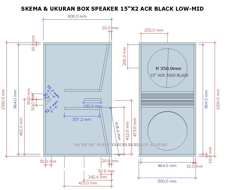 Ukuran Box speaker 15 ACR 15600 black