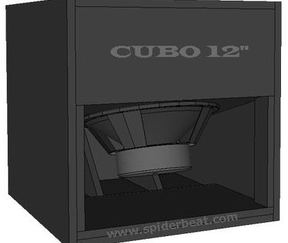 skema box speaker cubo sub 12 inch design