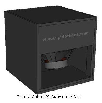desain box subwoofer 12 cubo