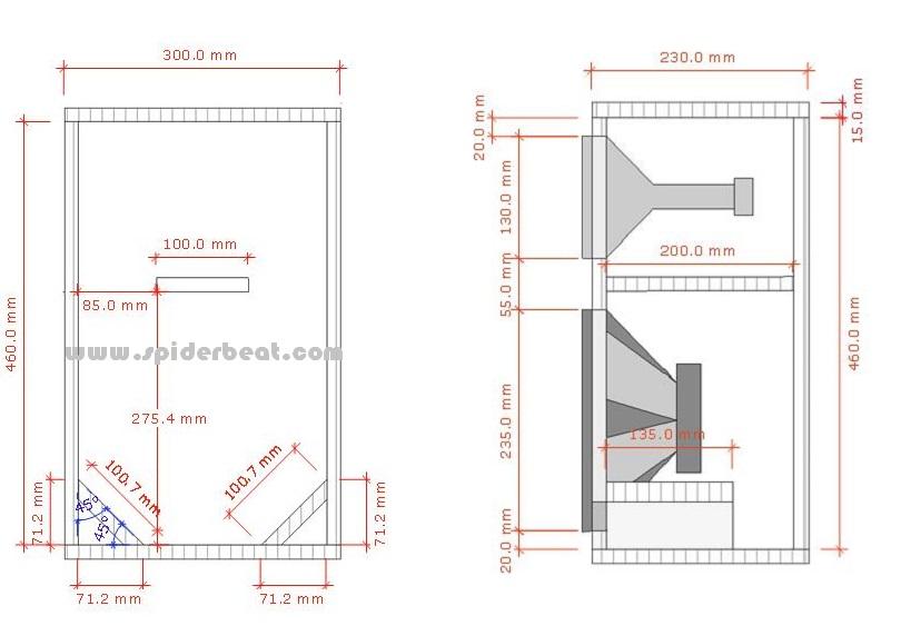 skema speaker 10 inch rumahan