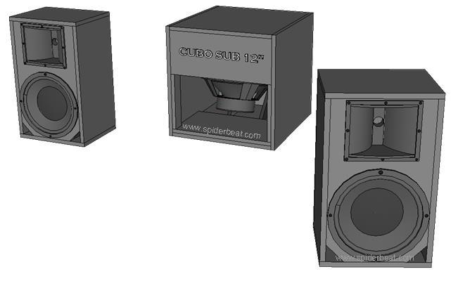 skema box speaker untuk audio 2.1 10 inch