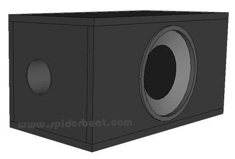box subwoofer port bulat 8 inch