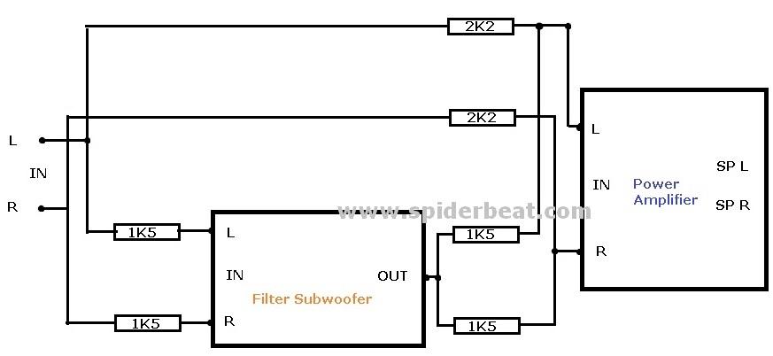 cara pasang filter subwoofer tanpa tone control 2