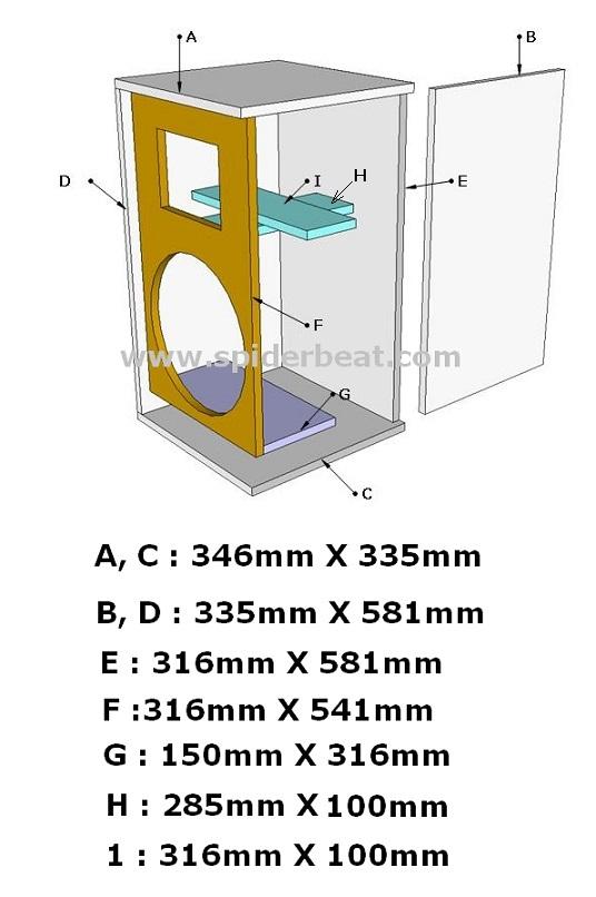 Ukuran box speaker 12 rumahan
