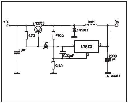 rangkaian regulator IC 78xx untuk power supply switching