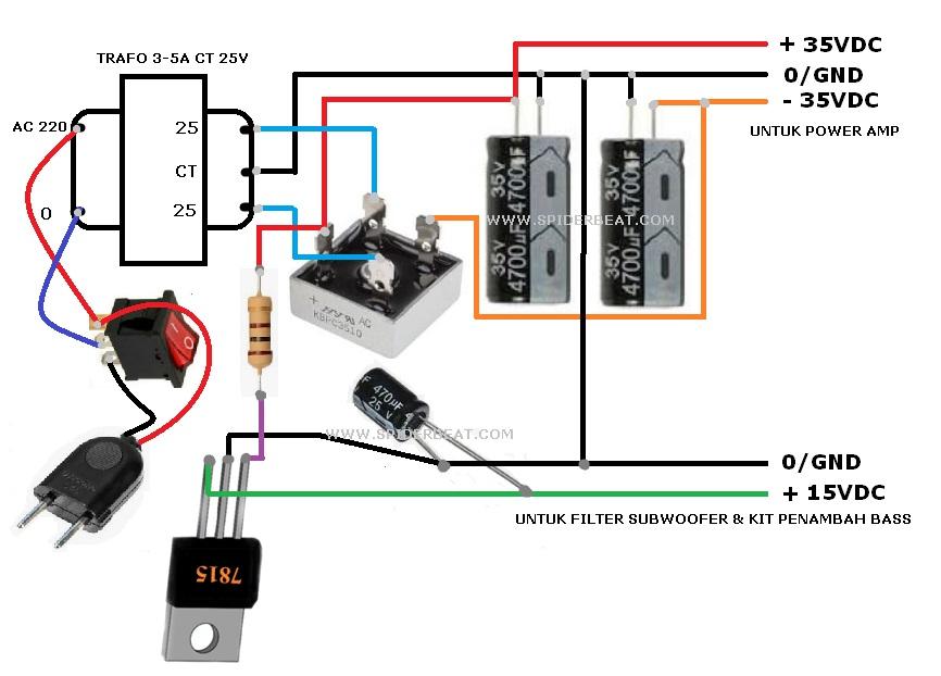 POWER SUPPLY 32V CT DAN 15V