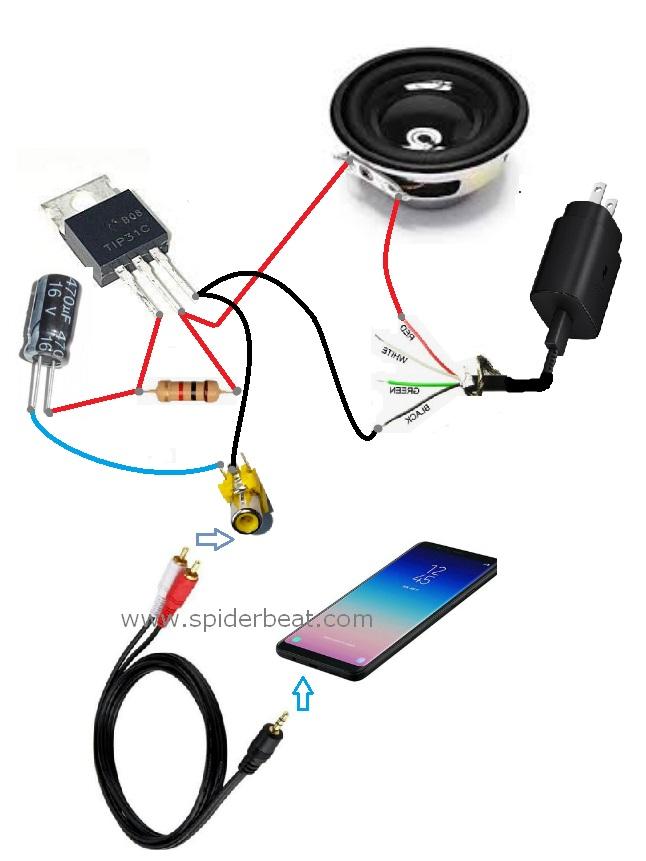 Amplifier sederhana untuk ponsel