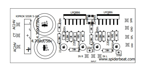 GAINCLONE PCB IC 3886
