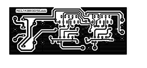 cetak pcb power gainclone lm3875 dengan toner pcb