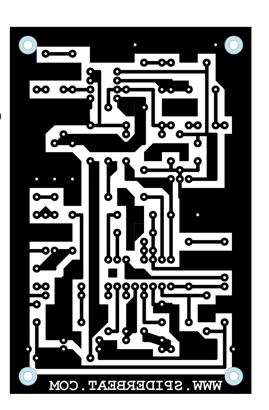 layout pcb efek delay guitar