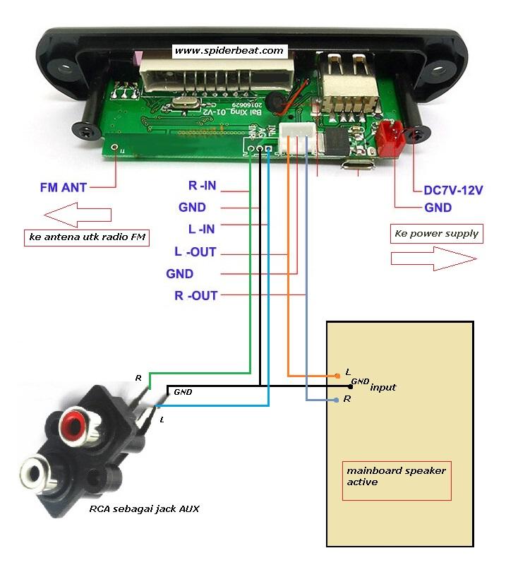 Modifikasi speaker aktif menjadi speaker bluethoot