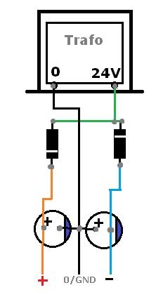 power supply Trafo non ct menjadi simetris