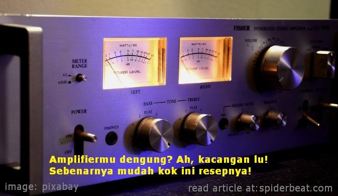 Mengatasi amplifier dengung