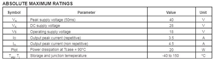Power rating Rating IC UTC2003