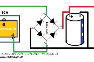 Cara mudah menaikkan tegangan trafo non ct