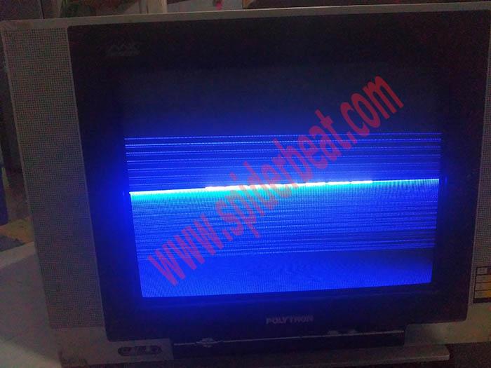 TV polytron gambar tinggal separoh