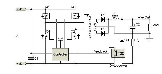 smps full-bridge topologi