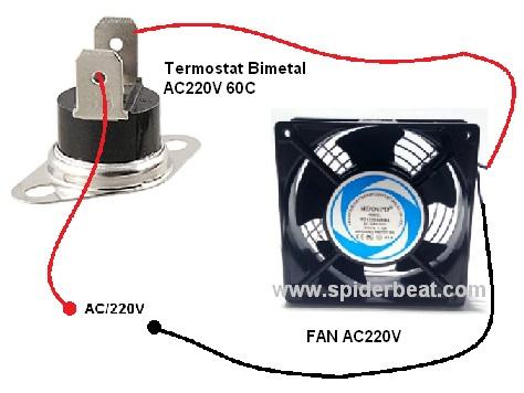 sensor suhuuntuk kipas pendingin amplifier